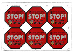 5pcs WARNING STICKER Security Signs-Window Stickers Home Security  Surveillance System CCTV Alert Sticker For